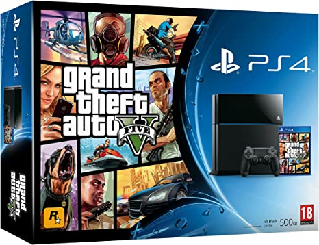 PlayStation 4 - Consola, Color Negro + GTA V: Amazon.es: Videojuegos