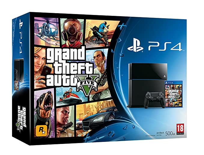 Playstation 4 Consola Color Negro Gta V Amazon Es Videojuegos