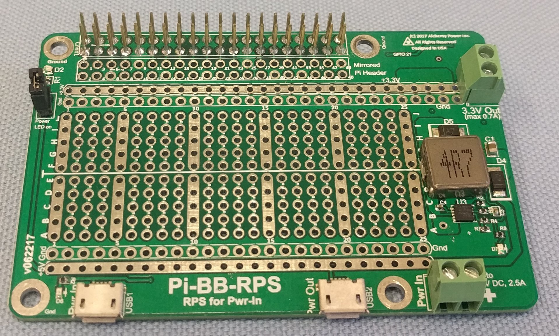 Alchemy Power Inc. Pi-BB-RPS Powered Breadboard with Redundant Power Supply (RPS) and more... by Alchemy Power Inc. TM (Image #1)