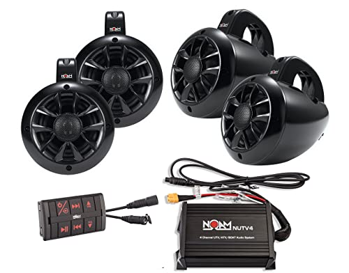 Noam Nutv4 Quad - 4 Channels Marine Bluetooth Atv/Golf Cart/Utv Speakers