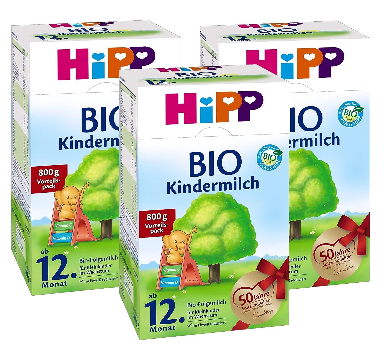 Hipp Bio Kindermilch - ab dem 12. Monat, 3er Pack (3 x 800g) Hipp GmbH & Co. Vertrieb KG