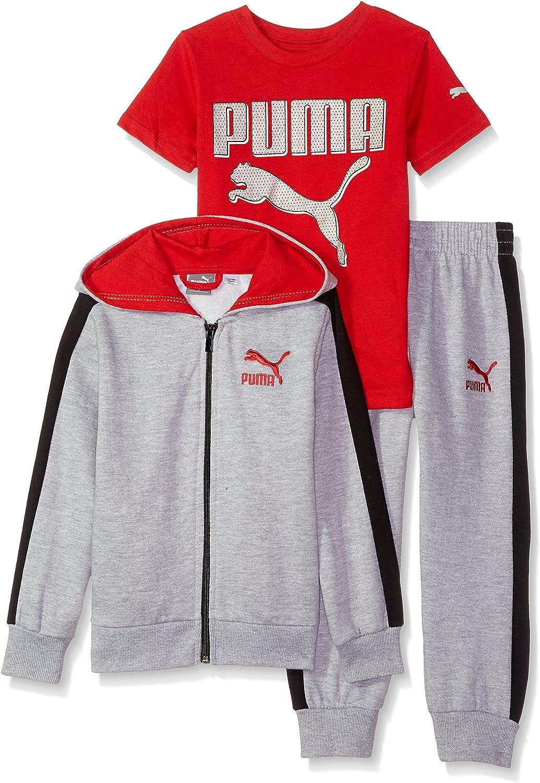 Hoodie PUMA Dreier-Set f/ür Kleinkinder Jogginganzug T-Shirt Jogginghose