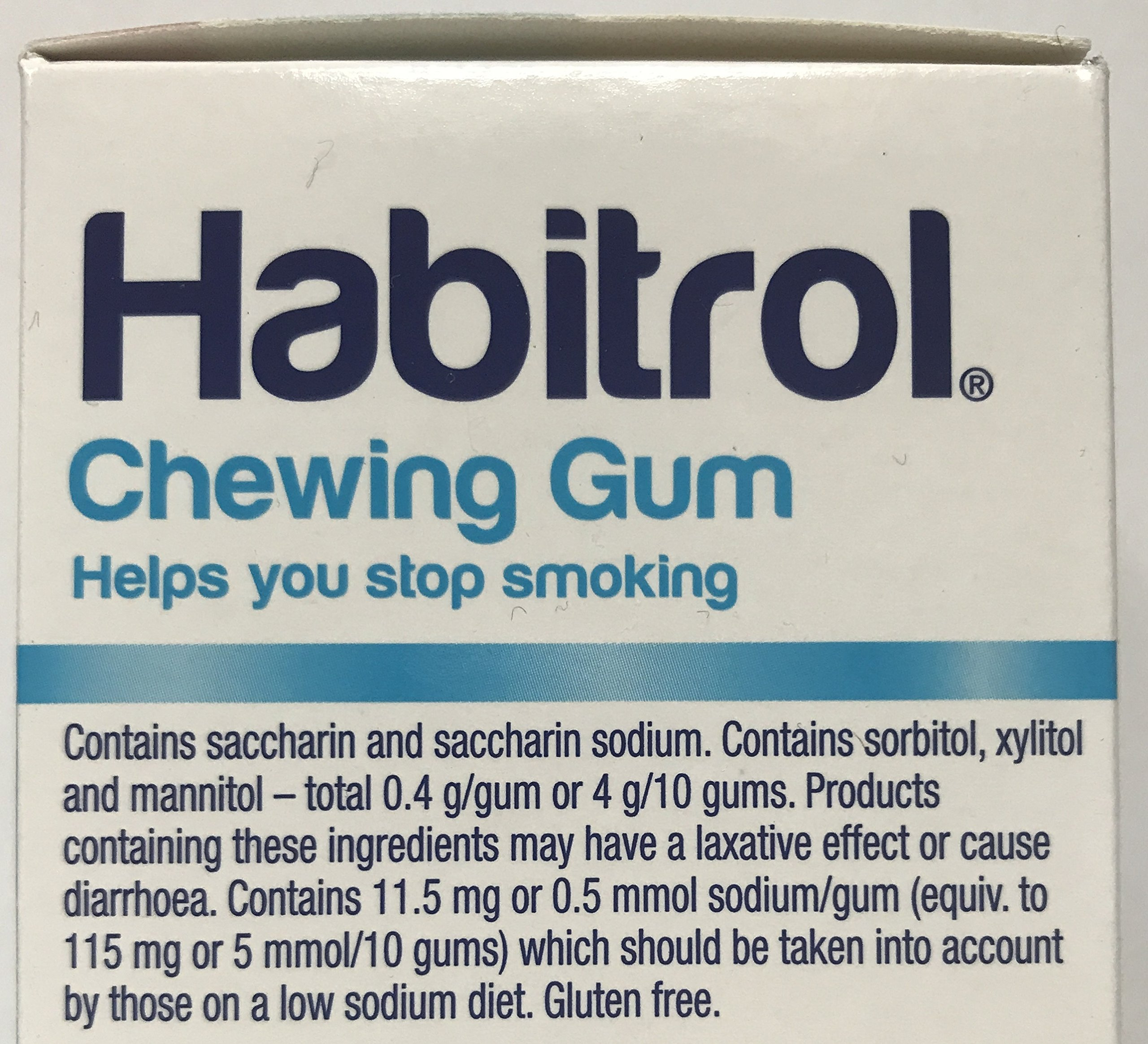 Habitrol Nicotine Gum Coated 4mg Fruit. 25 Boxes 2400 Pieces