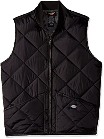bdd89f09e6f41 Dickies Men's Diamond Quilted Nylon Vest at Amazon Men's Clothing store:  Down Outerwear Vests