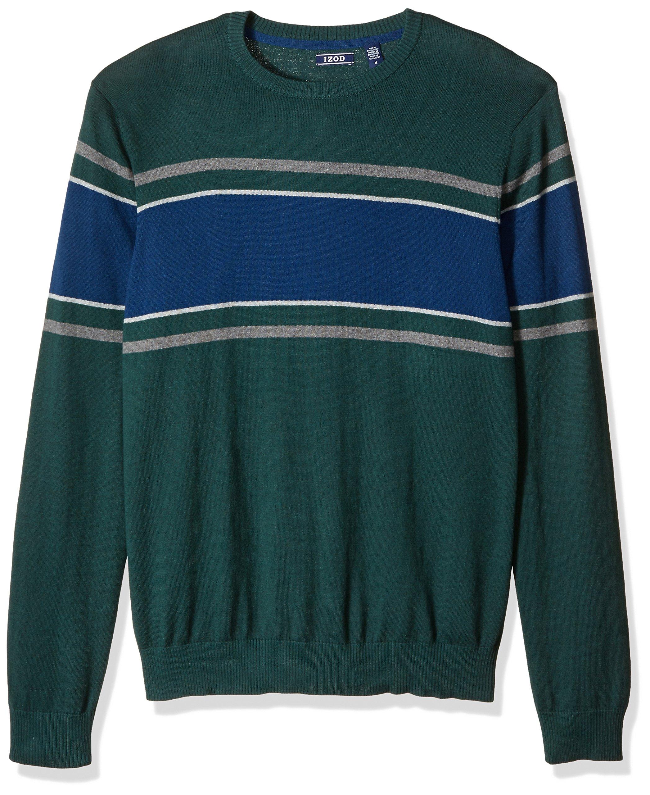 IZOD Men's Fine Gauge Crew Sweater, June Bug, X-Large