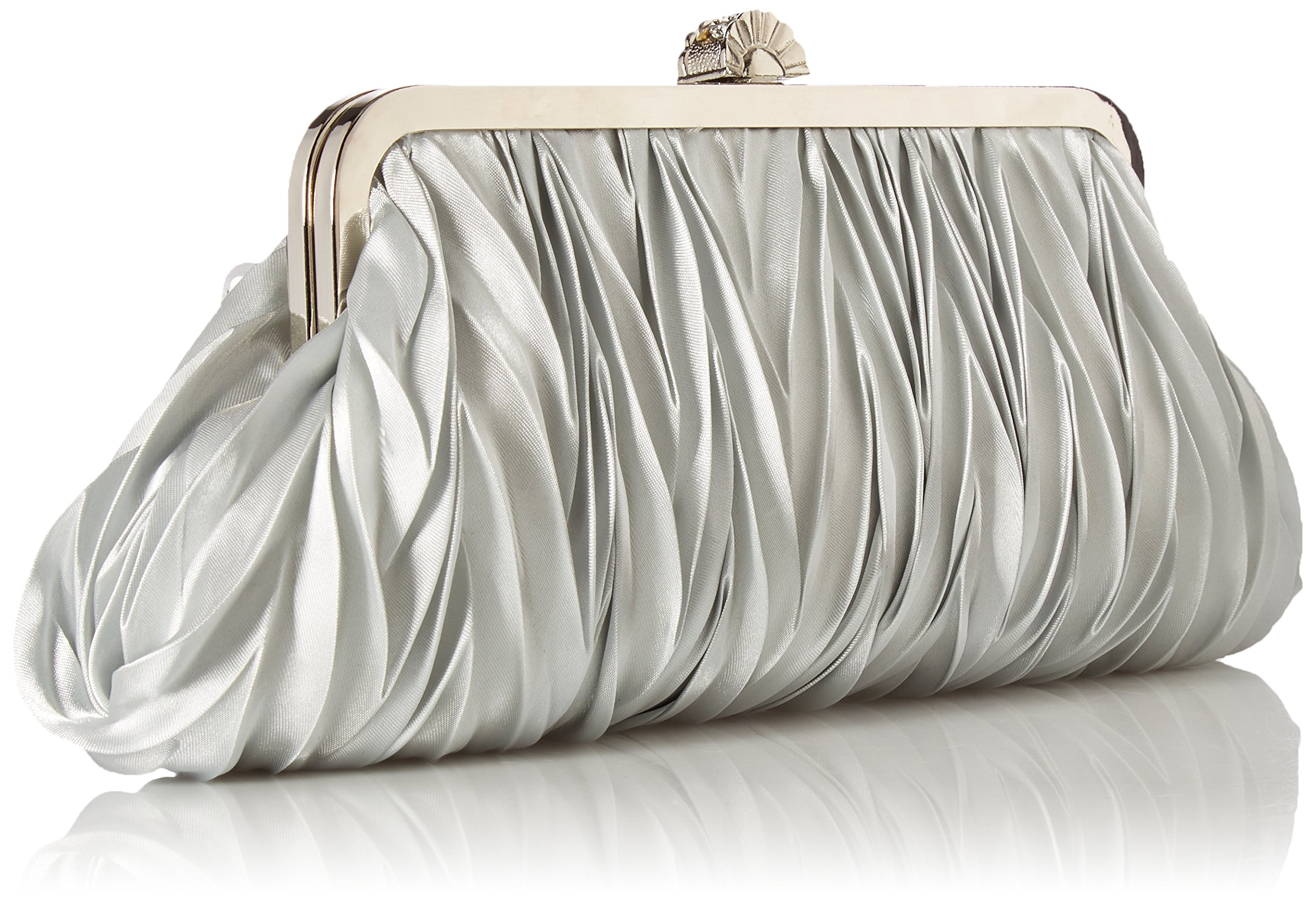 Kingluck Silk Cocktail Evening Handbags//Clutches in Gorgeous Silk More Colors Availabl dark blue