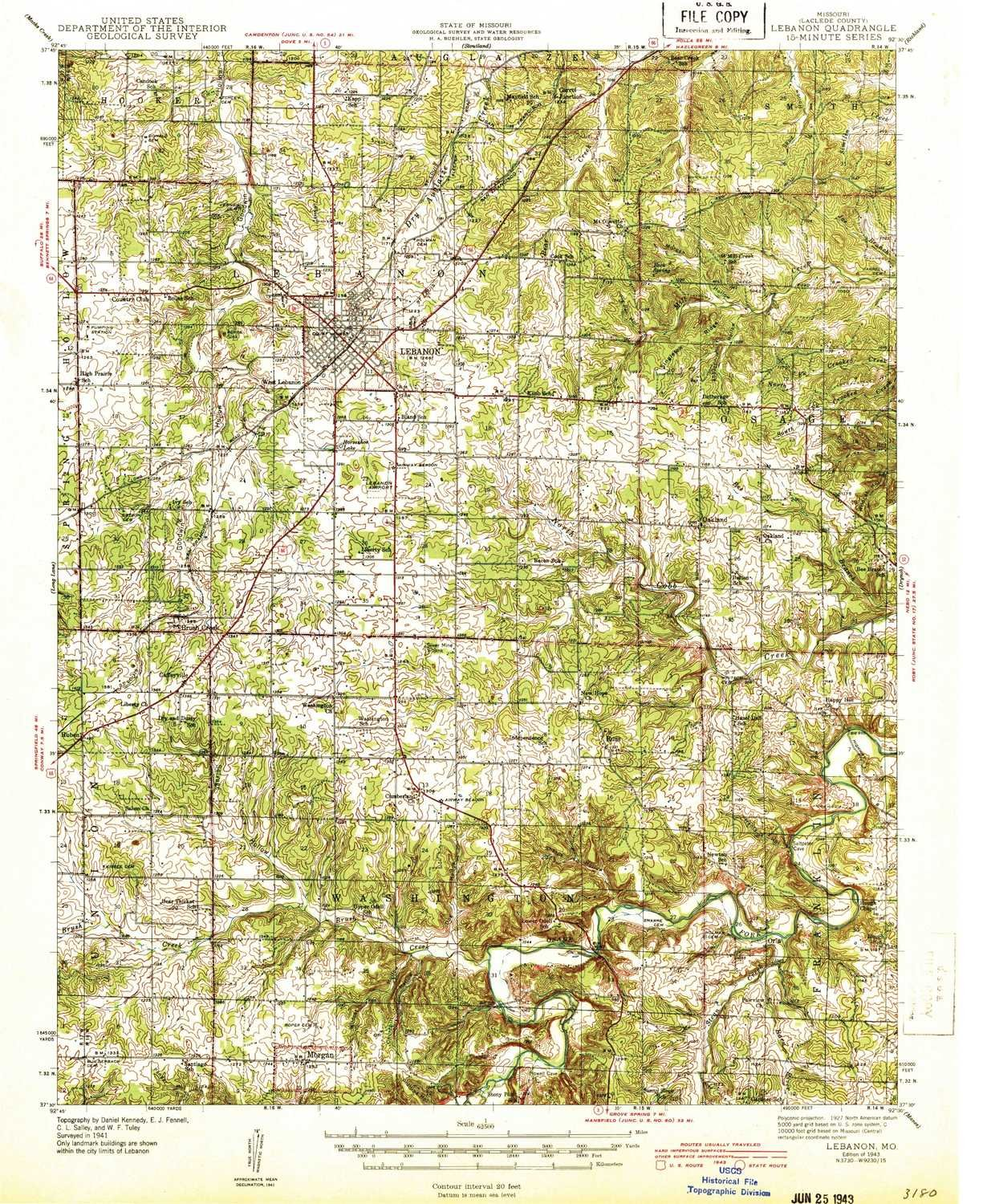 Amazon Com Yellowmaps Lebanon Mo Topo Map 1 62500 Scale 15 X 15