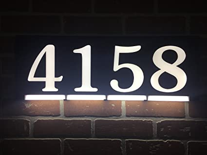 Homidea Backlit Led House Number And Sound Activated Overhead Light