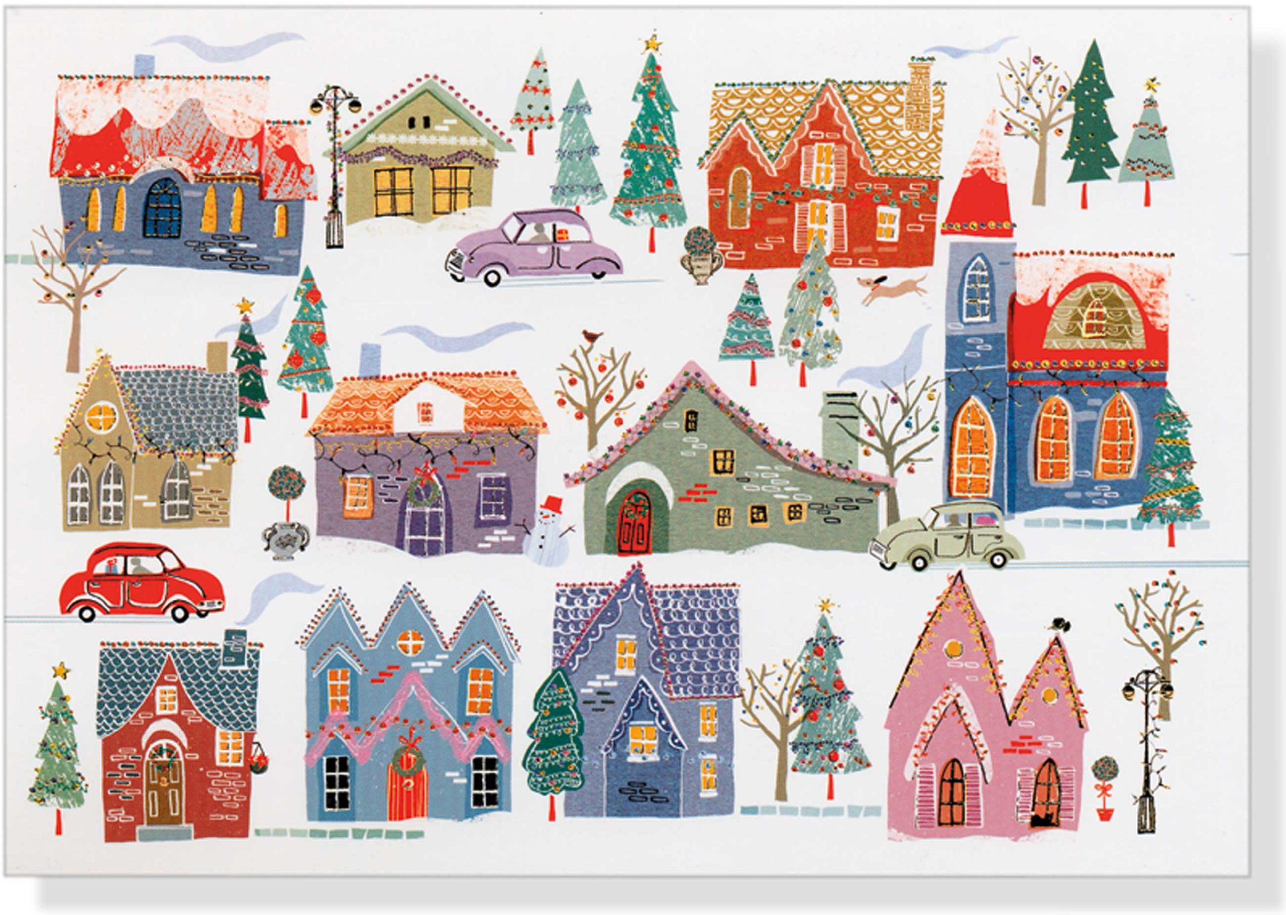 All Around Town Deluxe Boxed Holiday Cards (Christmas Cards, Holiday ...