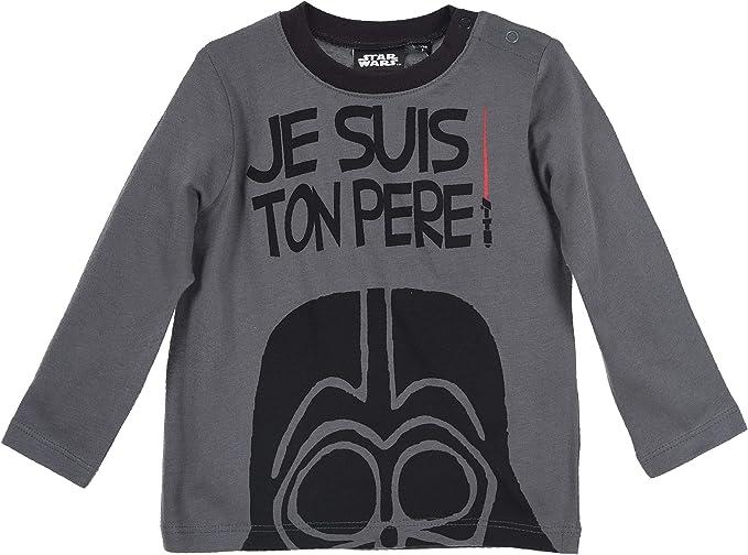 Star Wars bebé-niños Camiseta de Manga Larga: Amazon.es: Ropa y accesorios