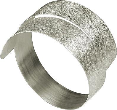 SILBERMOOS Damen Armreif Armspange Armring Schmuck breit 925 Sterling Silber