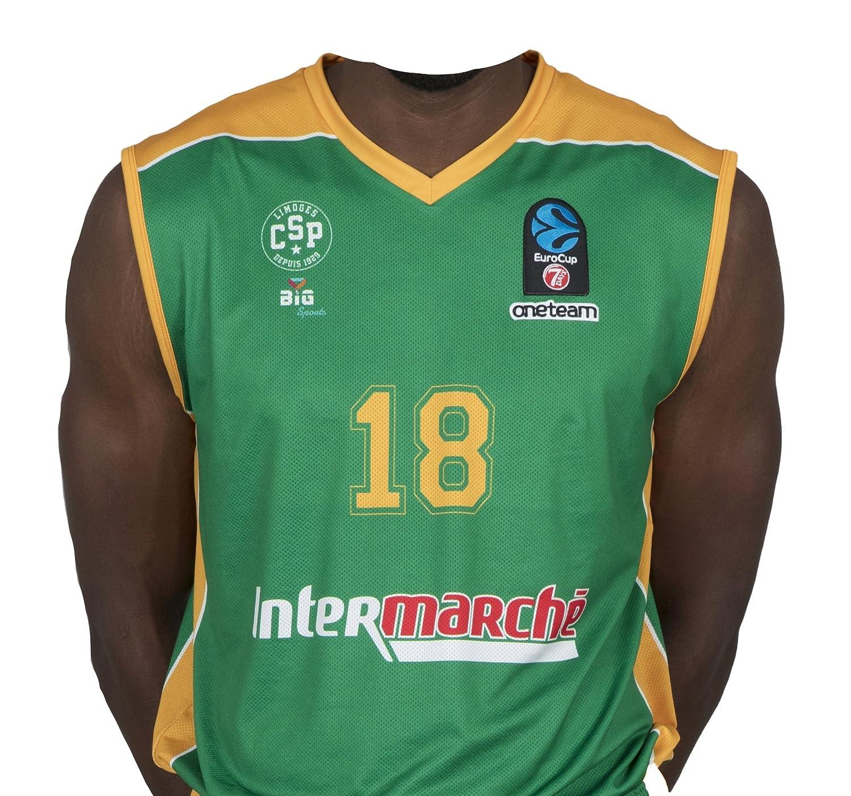 Bigsport Replica jaiteh Eurocup Limoges CSP Exterior–Camiseta de Baloncesto para niño, Niño, Color Verde, tamaño XL Niño tamaño XL BGSPT|#Bigsport CSPMJ2017-2