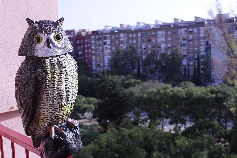 Búho anti aves accionado por viento