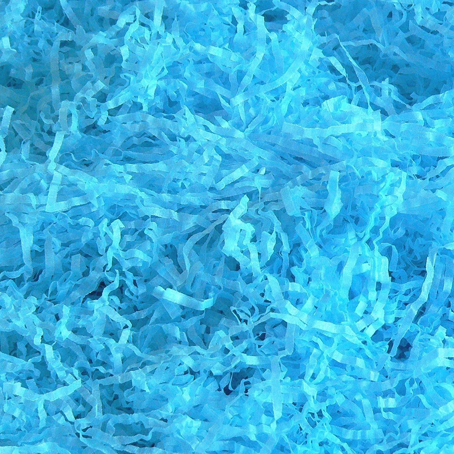 SKY BLUE EXTRA SOFT SHREDDED TISSUE PAPER FOR GIFT BOXES HAMPERS AND PACKAGING (1KG) WE CAN SOURCE IT LTD