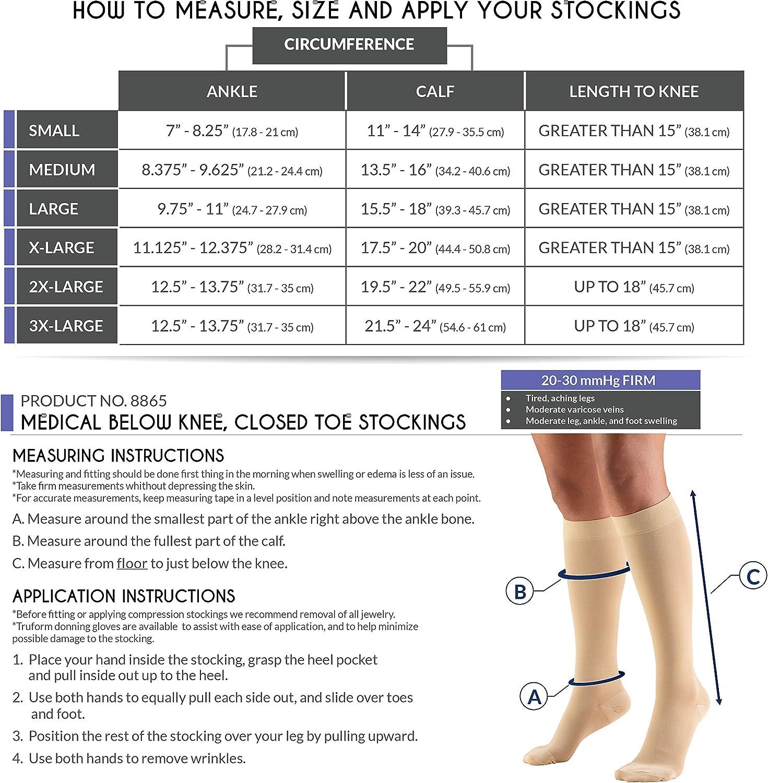B000A33FZ4 Truform 20-30 mmHg Compression Stockings for Men and Women, Knee High Length, Closed Toe, Beige, Medium 81Th2zJVx2L