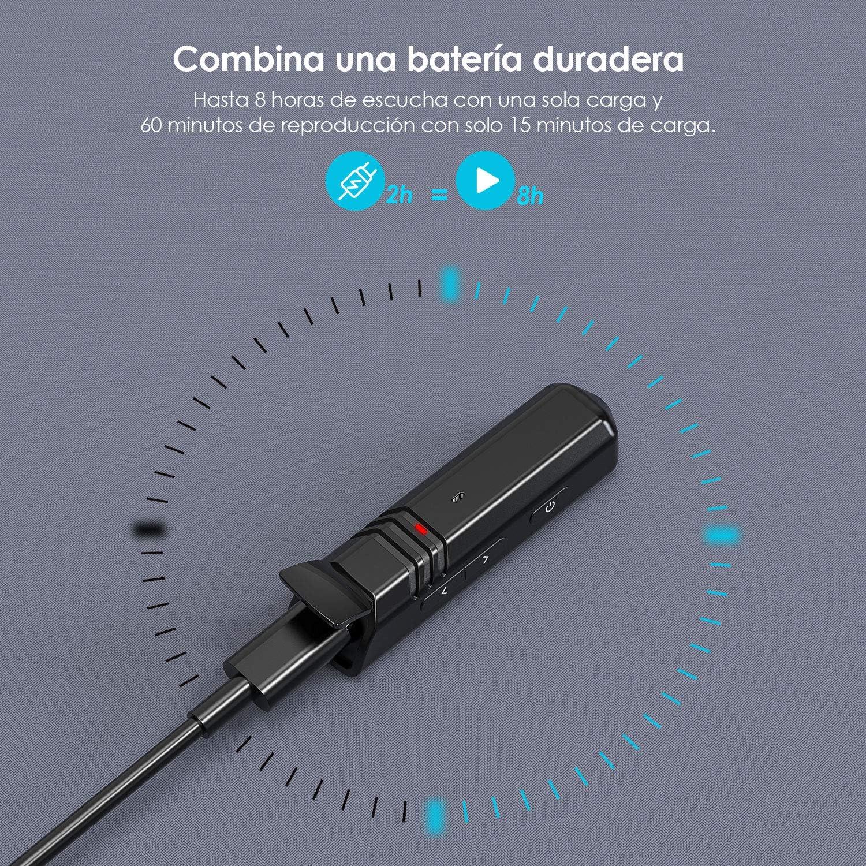 ieGeek Jack 3,5 mm Adaptador de Audio Inal/ámbrico Hi-Fi Baja latencia Streaming Soporte Llamada Manos Libres y Altavoz Negro Conecta 2 Dispositivos Simult/áneamente Receptor Bluetooth 5.0 aptX