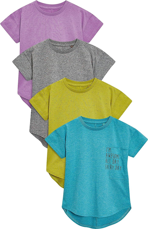 next Niños Pack De Cuatro Camisetas De Manga Corta Texturizadas (3 Meses - 6 Años) Verde Azulado/Lima / Gris NEP/Púrpura 5-6 años: Amazon.es: Ropa y accesorios