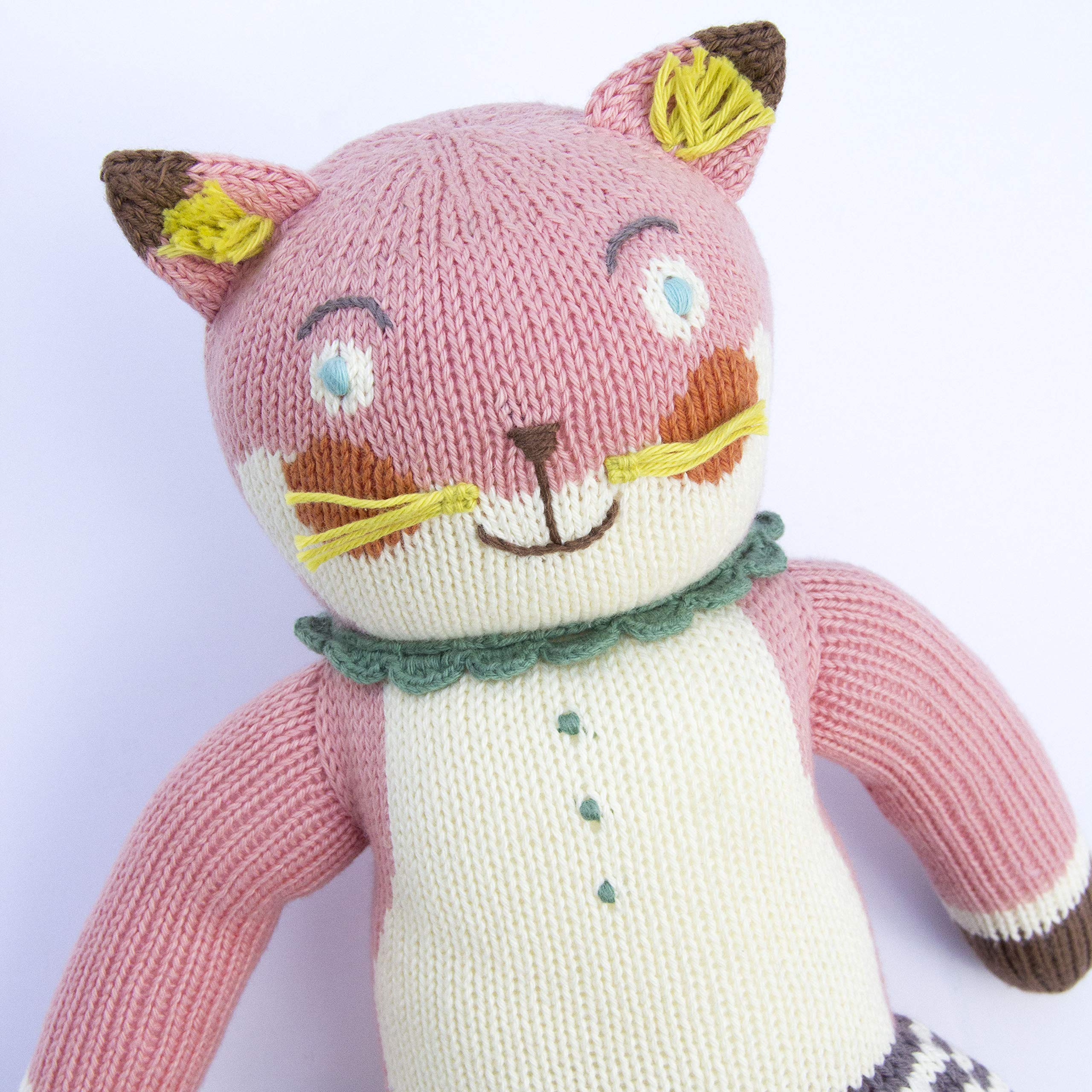Blabla Suzette The Fox Plush Doll - Knit Stuffed Animal for Kids. Cute, Cuddly & Soft Cotton Toy. Perfect, Forever Cherished. Eco-Friendly. Certified Safe & Non-Toxic. by Blabla