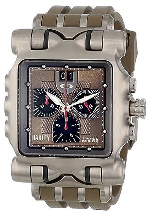 c594fd58f5f5c Amazon.com  Oakley Men s 10-067 Minute Machine Dark Earth Watch  Watches