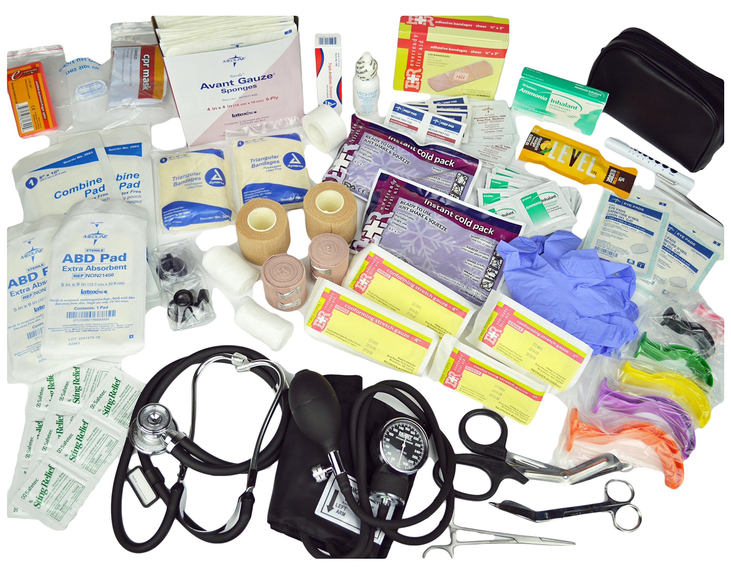 Lightning X Value Compact Medic First Responder EMS/EMT Stocked Trauma Bag w/Standard Fill Kit B - Orange by Lightning X Products (Image #5)