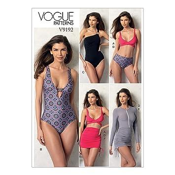 Vogue Mustern 9192 A5 Misses Top Badeanzug unten und Cover Up, Größe ...