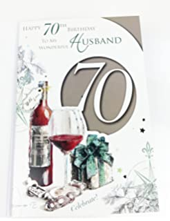 Husband 70th Birthday Card Large Greeting For Age 70