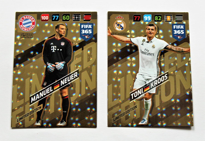 Panini Adrenalyn XL FIFA 365 2018 - Manuel Neuer + Toni Kroos Karten limited Edition
