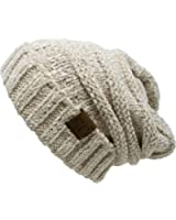 Funky Junque C.C. Trendy Warm Oversized Chunky Soft Oversized Cable Knit Slouchy Beanie