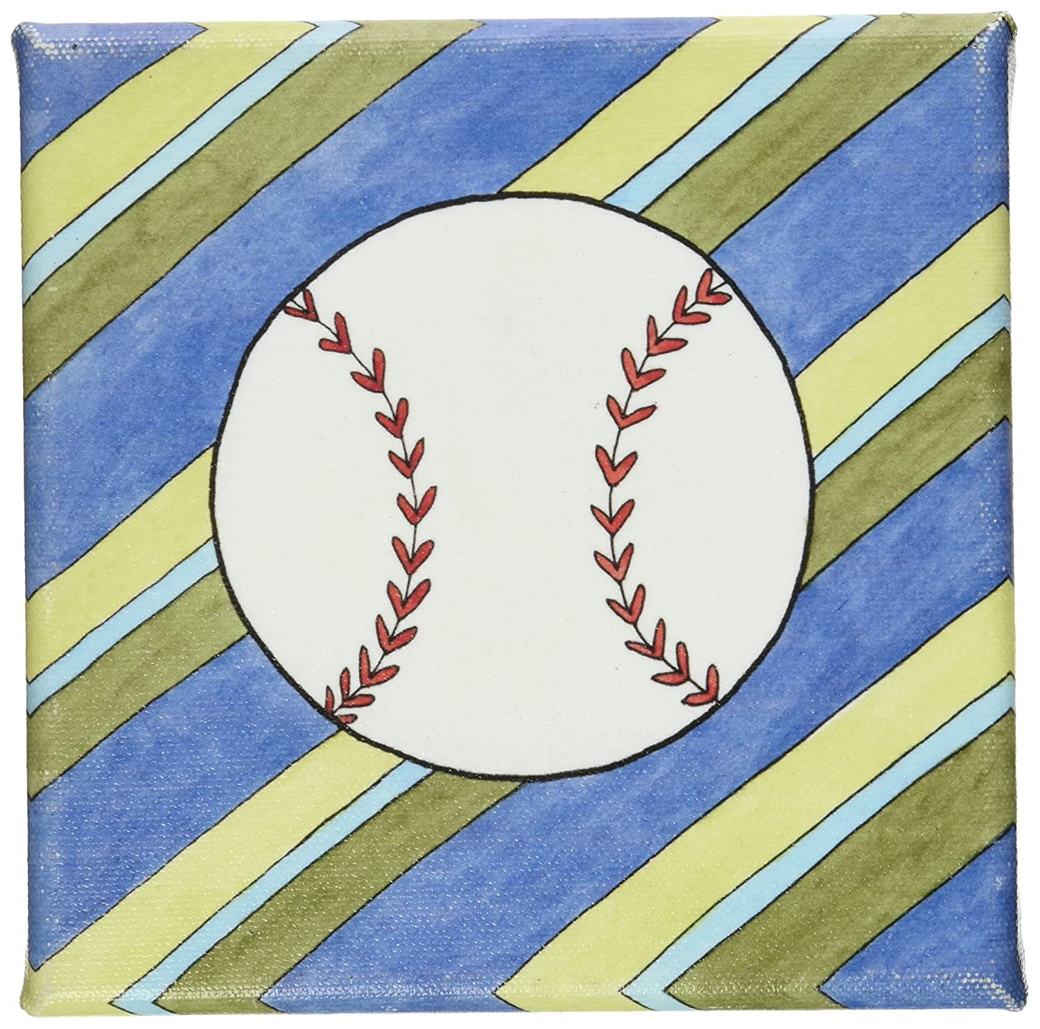 Green Frog Art 6X6 Canvas Gallery Wrapped Art, Hangin' Out Baseball by Green Frog Art   B004HILQTU