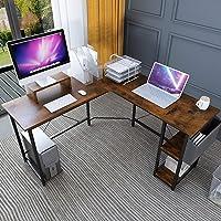 Deals on Magic Life L Shape Desk Corner Desk 56-in Corner Computer Desk