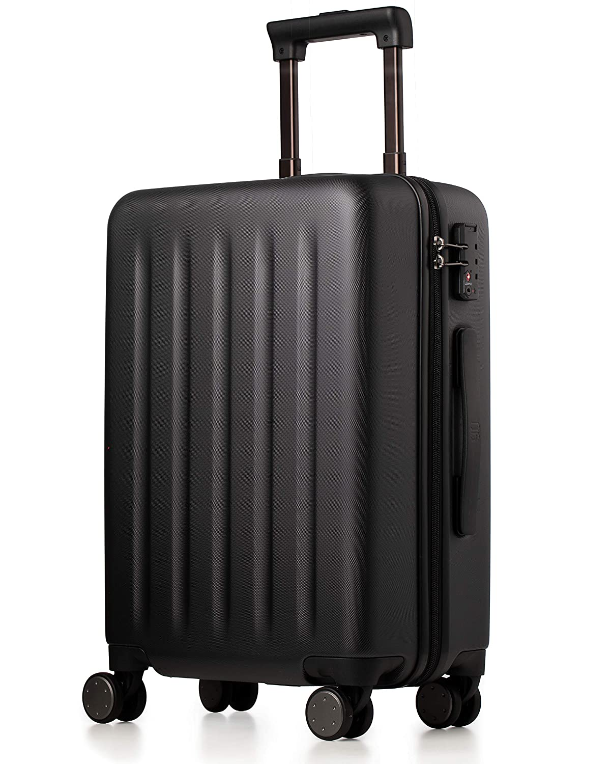 Carry On Luggage 22x14x9 with Spinner Wheels, 100 Polycarbonate Hardside NINETYGO Lightweight TSA Compliant Carry on Suitcase 20 Inch Black
