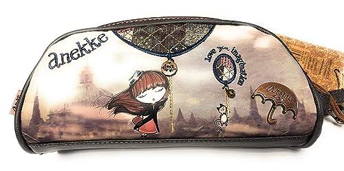 Anekke - Cartera de mano para mujer Marrón marrón S: Amazon.es: Zapatos y complementos