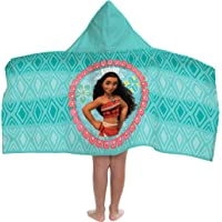 "Disney Moana 'The Wave' 62"" x 90"" Twin Blanket Teal Hooded Towel"