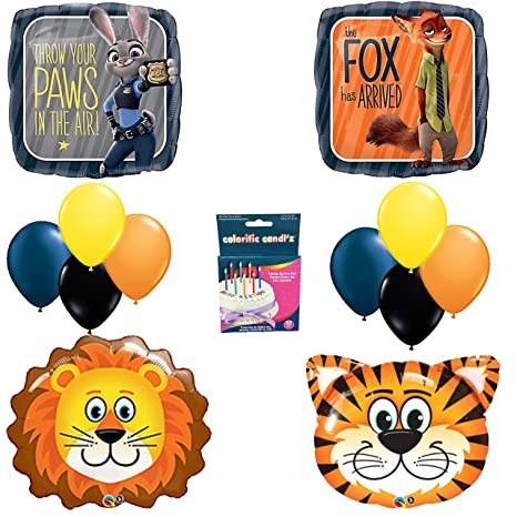 Amazon Zootopia Birthday Party Balloon Decoration Kit LIONS TIGERS TOO Toys Games