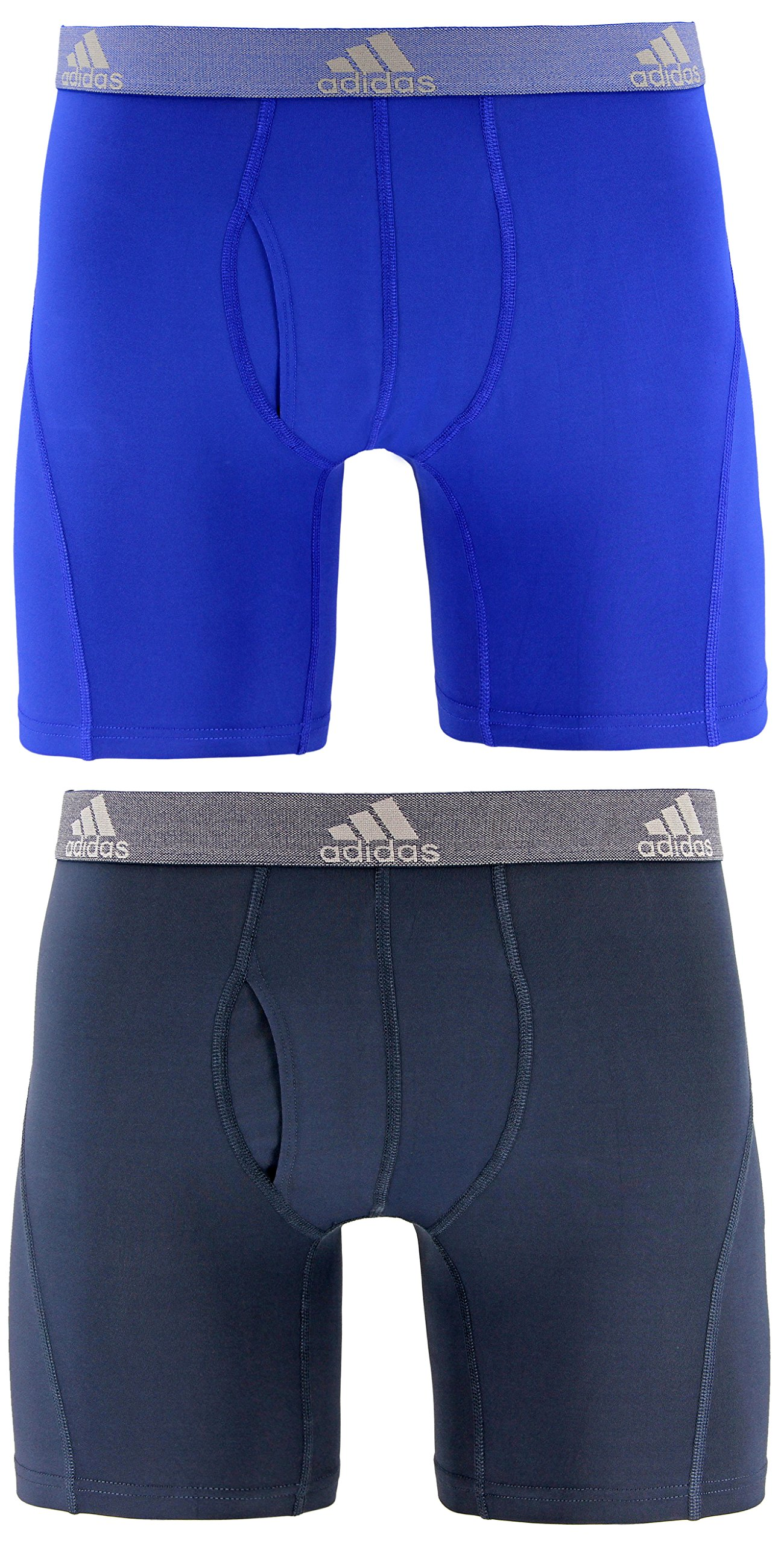 adidas Men's Relaxed Performance Climalite Boxer Brief Underwear (2-Pack), Bold Blue Urban Sky, LARGE by adidas