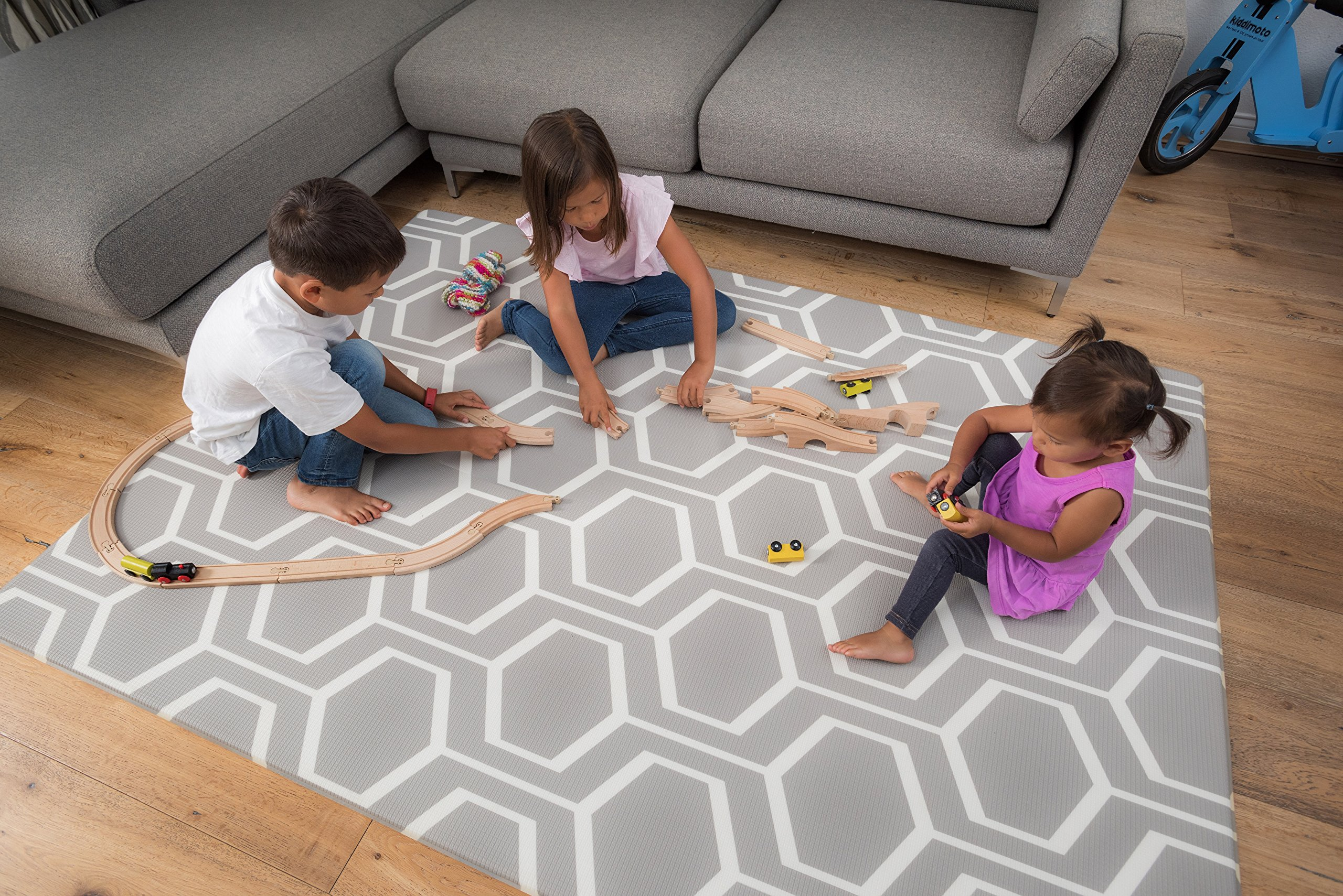 Tregolden Baby Play Mat - For Babies, Toddlers and Kids - Protect Your Child With This Stylish Soft Play Rug - Attractive, Modern and Sophisticated Design - Tested to Rigorous Safety Standards by Tregolden