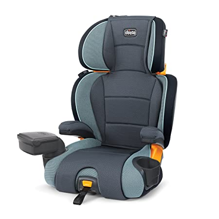 Chicco KidFit Zip 2-in-1 Belt Positioning Booster Car Seat, Midnight
