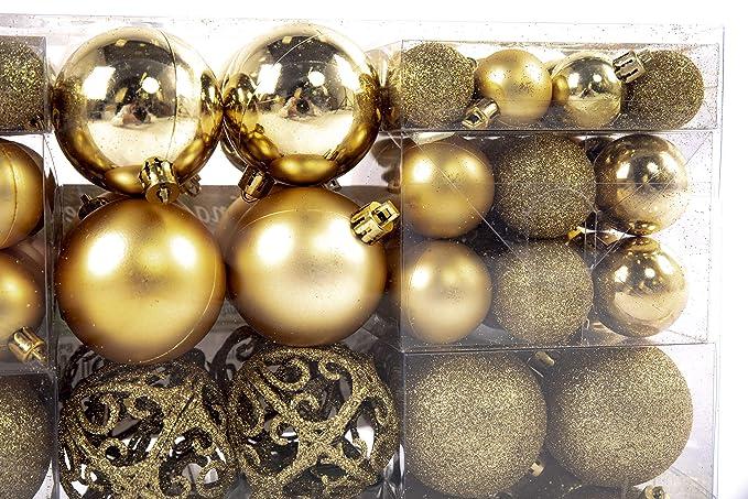 Acceso a todos los puertos Bolas de navidad Bolas de navidad con 100 pcs colour oro