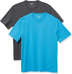 Amazon Essentials Men's 2-Pack Loose-fit Crewneck T-Shirts