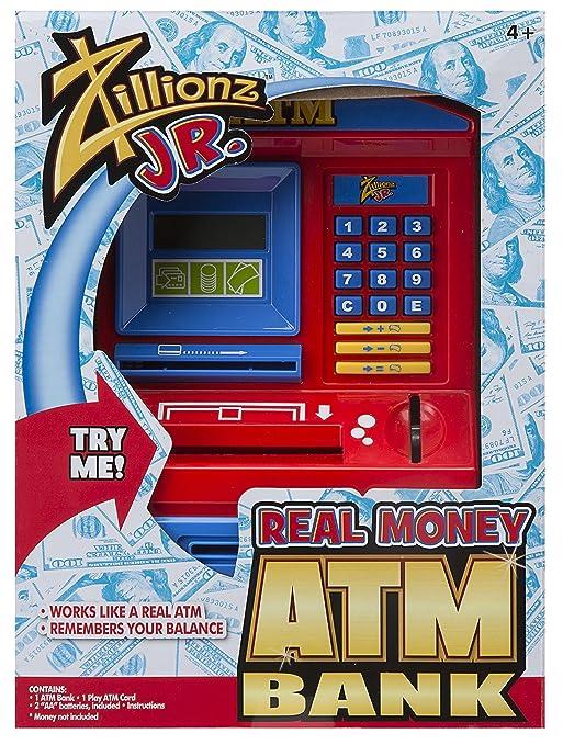 Amazon.com: Zillionz Desktop ATM Bank With Bill Feeder: Toys & Games