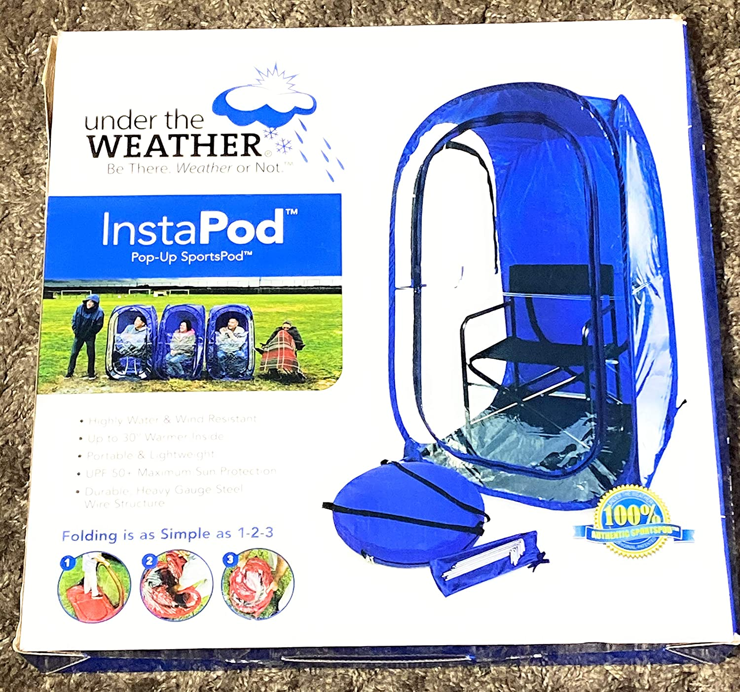 Pop-Up Tent Shelter Shade Sports Camping Outdoor Under the Weather InstaPod