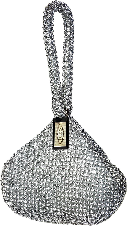GFM/® femme Soir/ée ou f/ête tr/ès petite taille coquille souple perle sac /à main au poignet BP