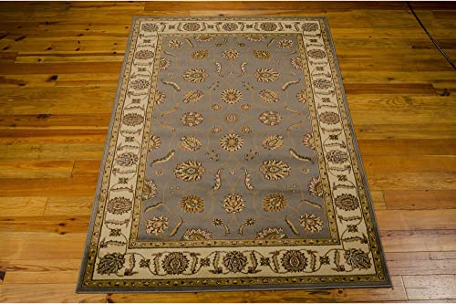 Rug Squared Mariposa Traditional Area Rug , 7-Feet 10-Inches by 10-Feet 6-Inches, Blue