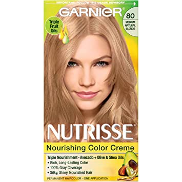 garnier nutrisse nourishing color creme 80 medium natural blonde butternut packaging may - Colores Garnier