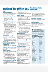 Microsoft Outlook 365 Mail, Calendar, People, Tasks, Notes Quick Reference - Windows Version (Cheat Sheet of Instructions, Tips & Shortcuts - Laminated Guide) Pamphlet