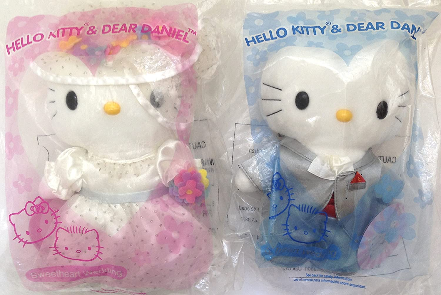Sanrio McDonald/'s Hello Kitty /& Dear Daniel Couple Wedding Dress Plush Doll