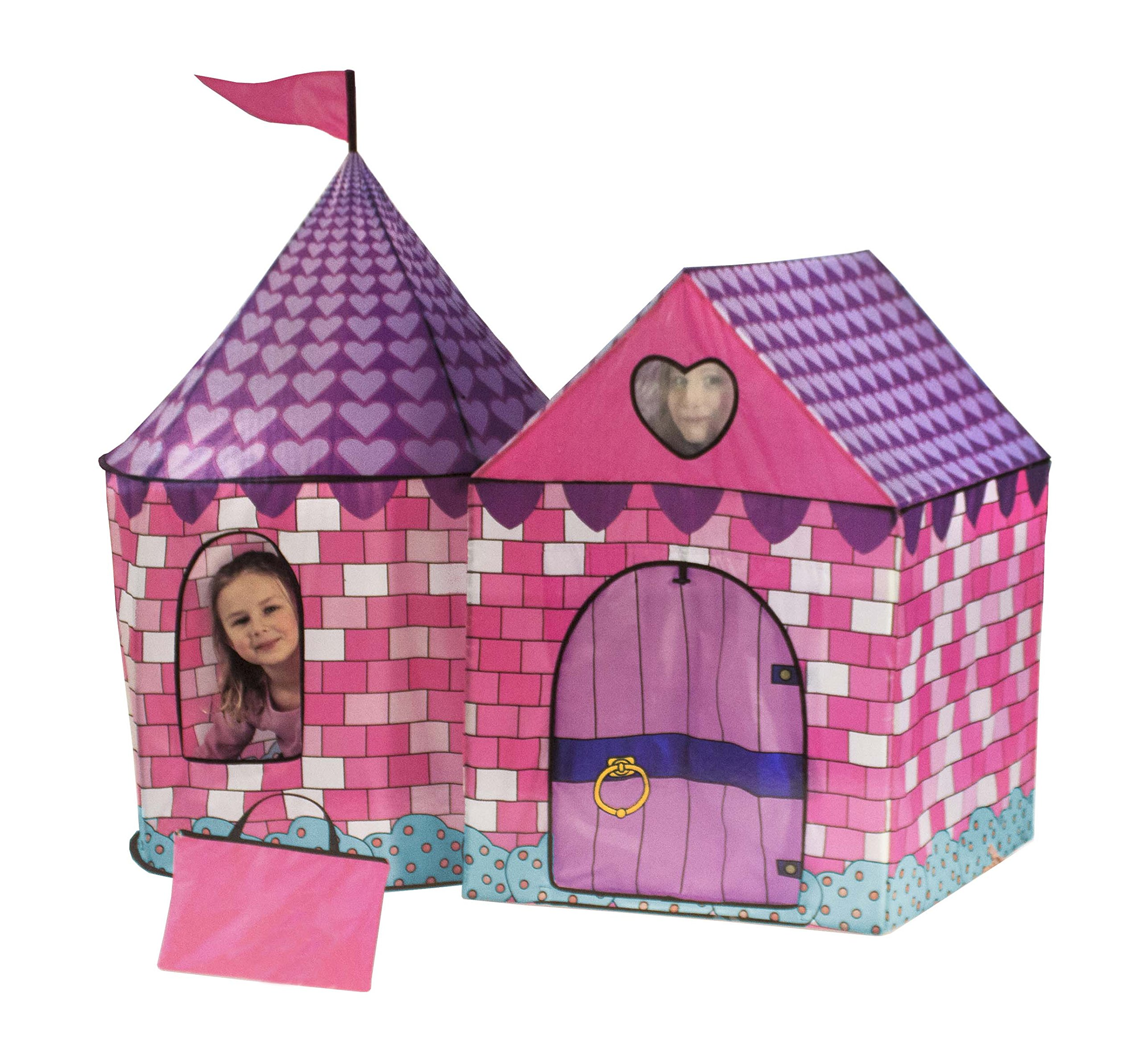 Make your favorite little girl ...  sc 1 st  eBay & Girls Play Pink Tent Princess House Castle Playhouse Kids In ...