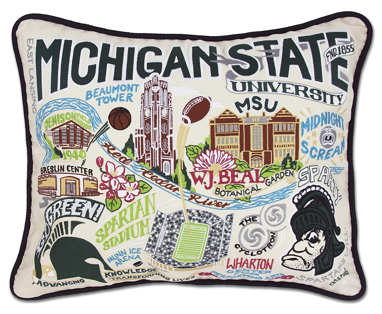 Michigan State University Collegiate刺繍枕 – Catstudio B01KVWQ9VK
