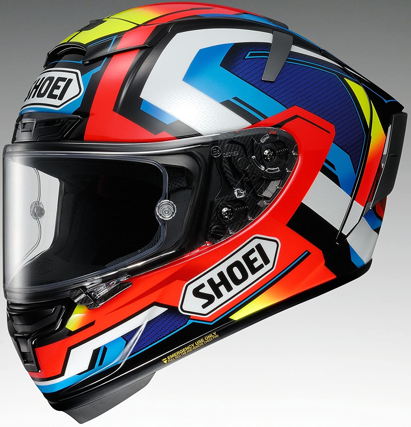 Amazon.com: Shoei X-14 Brink Sports Bike Racing Motorcycle Helmet - TC-10/Medium: Automotive