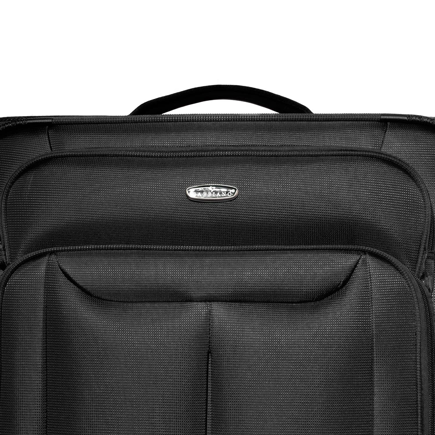 Gabbiano Bellagio Collection 3 Piece Softside Spinner Luggage Set Navy Blue